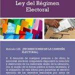 #EleccionesBo . Conociendo la Ley del Régimen Electoral. Art. 125 II (PROHIBICIONES EN LA CAMPAÑA ELECTORAL) http://t.co/gog23IEdl6