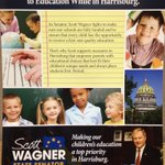 RT @FlintMcColgan: In a new campaign mailer, @WagnerforSenate writes that he supports parental choice in education. @ydrcom http://t.co/Vb7qSqMMsc