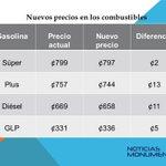 Nuevos precios en los combustibles. Entrarán a regir luego de ser publicados #NM935 #TraficoCR http://t.co/K6Xbzz80P8