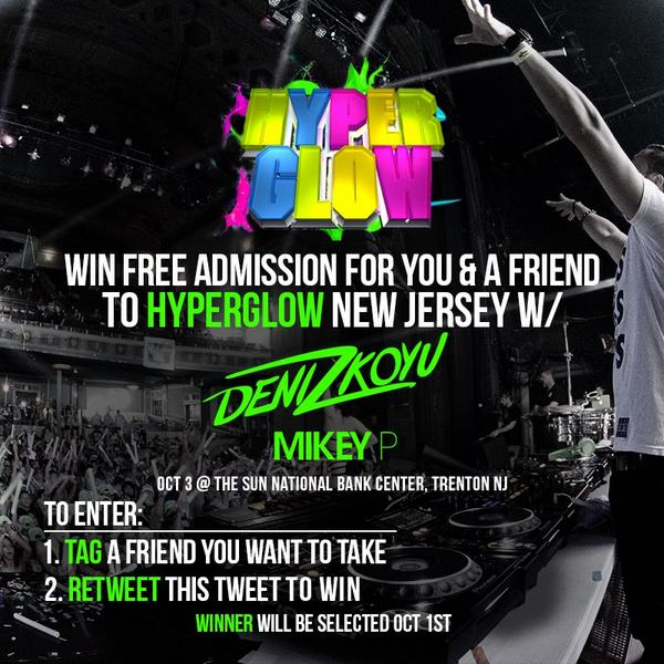 I'm giving away 2x tickets for you & a friend to my show this Fri @HyperglowTour w/ @DenizKoyu!  RT To Enter! Info: http://t.co/eVdAPC1csg