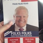 """RT @NatalieCTV: The """"Doug Ford campaign"""" literature being distributed outside tonights mayoral debate #TOpoli http://t.co/KoQuktvkdI"""