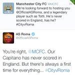 Il social media manager del #ManchesterCity ha appena preso un volo solo andata per Antigua #Totti #CityRoma http://t.co/s9CETFPDjR