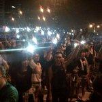 RT @MuhammadLila: Ground-level view of #HongKong #UmbrellaRevolution's now iconic cell phone light vigil.