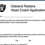 Want to be Raiders head coach? a.Why? You have so much to live for. b.Heres the application http://t.co/OyznbJznjI http://t.co/SMSNkZLWdz