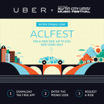 RT @aclfestival: Need a ride to #ACLFest? Download the @Uber_ATX app & enter promo ACLFEST for a FREE ride: http://t.co/AvFc08czrz http://t.co/yKZJ3ngtWV