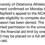 RT @JLMcCuistion: #Sooners speak out on Baker Mayfield situation. RT @OU_Football: OU Athletics Statement on QB Baker Mayfield http://t.co/PpKU6tRYmv