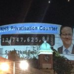RT @peoplesNHSni: .@PeoplesNHS activists projected privatisation counter on roof of Tory conference Lets make it viral! RT IF U <3 #NHS http://t.co/ynUrKxBBA6