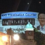 RT @PeoplesNHS: @OwenJones84 Check out the NHS privatisation counter we projected on the roof of Tory party conference. http://t.co/NOQ4ZpzDuN