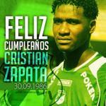 RT @AsoDeporCali: Felicidades a nuestro canterano Cristian Zapata en su cumpleaños 28. Bendiciones!! | http://t.co/4OrFCAwwFa