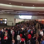 Not many people can draw this kind of crowd. Must be time for Larry Ellison keynote at #oow14 http://t.co/1xAAiY9BqV
