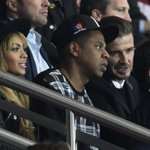 Beyonce, Jay Z & David Beckham walk in to a soccer match... Messi with some pretty good company in attendance today. http://t.co/vxayPujwpW
