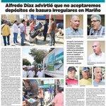 RT @alcaldiamarino: #TITULARES : Alcalde @alfreditodiaz advirtió que no aceptaremos depósitos de basuras irregulares en Mariño http://t.co/mBhlAXyGS0