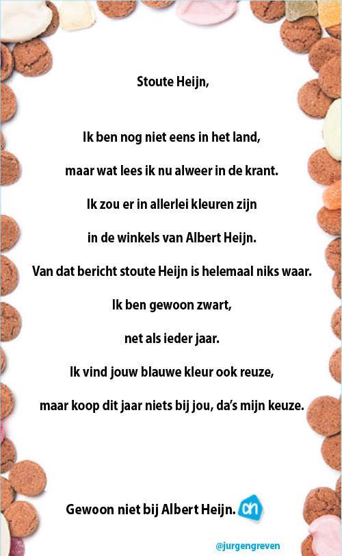 Zwarte Piet heeft gereageerd op advertentie Albert Heijn #boycotAH http://t.co/6lonsuC2hj
