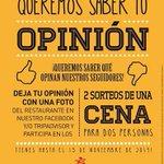 En Restaurante Japonés Shouri #ElPuerto #Coruña premiamos tu opinión. Sorteo de 2 cenas para 2 personas. Hasta 15NOV! http://t.co/R6hZ5fyoD7