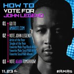 RT @TheAMAs: Get ready to swoon, @johnlegend fans. He's an #AMAs