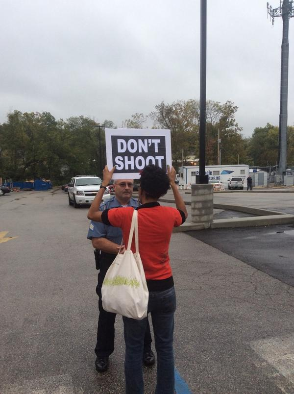 Two moments from #FergusonOctober http://t.co/u3AE1ASTWu