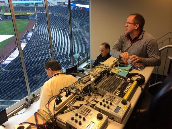 A sad broadcast booth as joe angel, fred manfra @cdwill77 as ...
