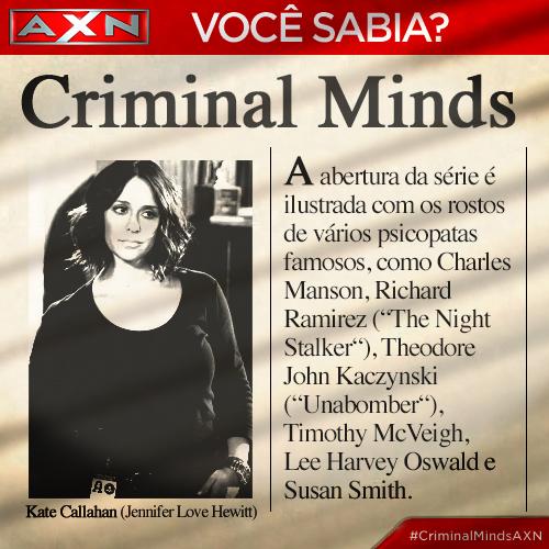 Nesta série, nada é por acaso. Podem comemorar: a nova temporada de #CriminalMindsAXN estreia hoje, às 22h! http://t.co/1Zcl9duPpR