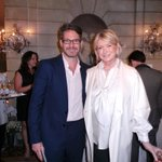 Bronson van wyck and me at the 20th anniversary of martha stewart weddings magazine http://t.co/hmHR6tIoPs