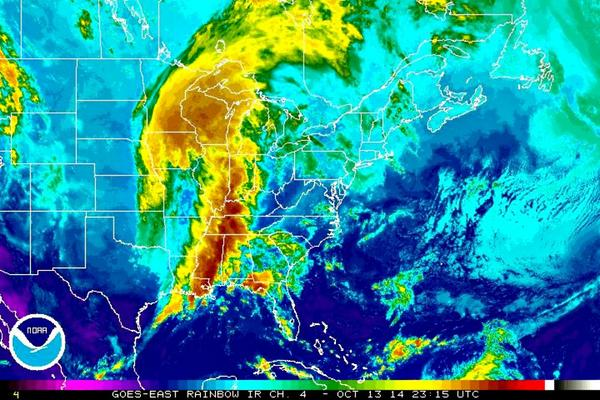 Photo Noaa Infrared Satellite Image Shows Storm System