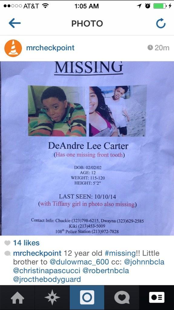 MISSING 12 year old #LosAngeles RT http://t.co/XKPtdDKUBW