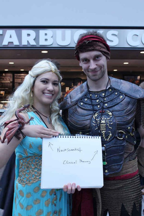 People from NY ComicCon showing how careers are irrelevant to hobbies and interests. http://t.co/ooQRd7x9fh