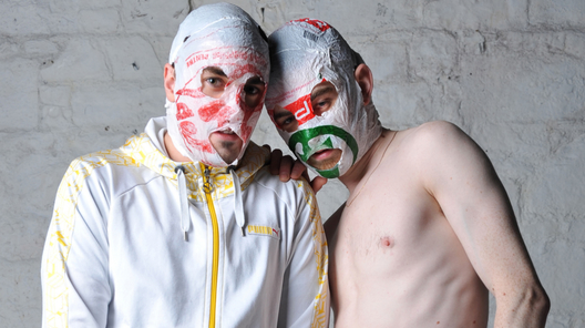 The @Rubberbandits are BACK! @SohoTheatre, for the next week. http://t.co/zUH3QlkkI2 http://t.co/G2fV3UEClJ