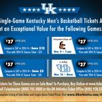 RT @KentuckyMBB: Limited single game tickets available for first four games! #WeAreUK http://t.co/lorpOij2m0