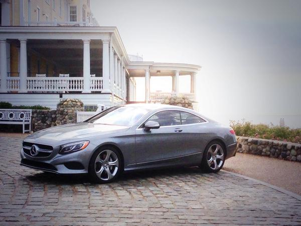 In Rhode Island this morning driving the new @MBUSA S-class coupe http://t.co/rXxRZURA2K