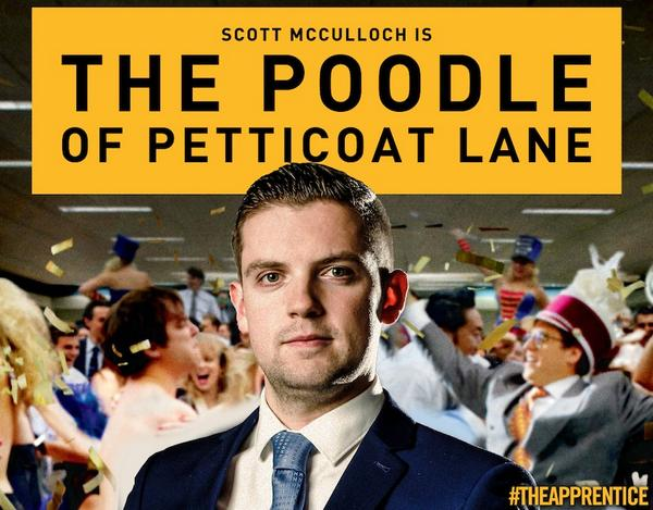 Coming soon to a cinema near you: The Poodle of Petticoat Lane. #theapprentice http://t.co/ohmhDzD9nv