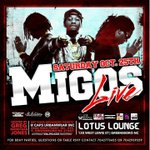 #GHOE Migos LIVE |THIS Saturday | Lotus Lounge | Advanced Tickets @ Caps Urban Wear(GREENSBORO) & DTLR STORES http://t.co/KdEW2NGN5p