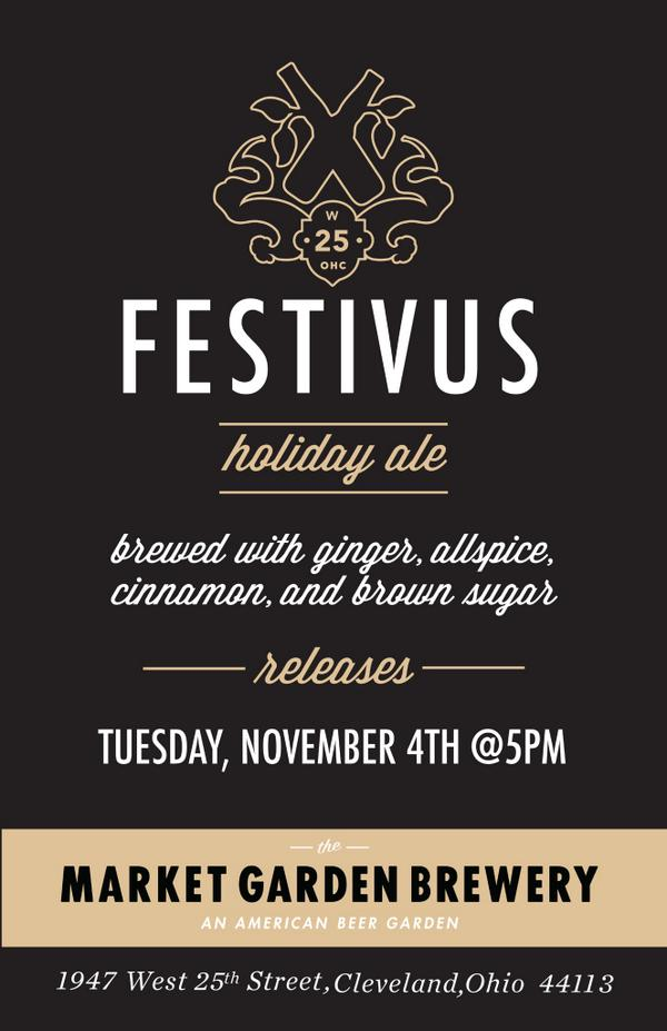 Big News Cleveland!! On November 4th, at 5pm, we'll be releasing our Festivus Ale! http://t.co/GJ9ZNaJ6Kz