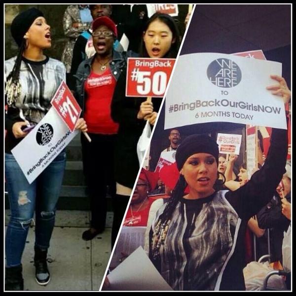 @aliciakeys What an amazing role model U are! #BringBackOurGirls #WeareHere #WeareHereMovement cred: @Vale_InoueKeys http://t.co/mwmw54Ph5B