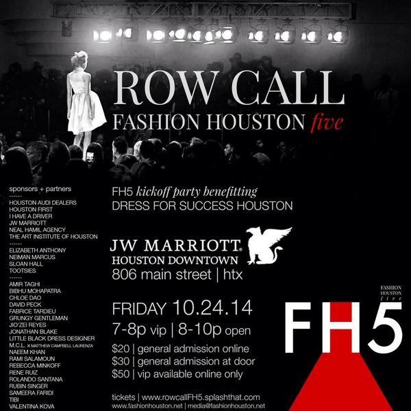 Gen admission tix now avail. #FH5 #RowCall @JWHoustonDwtn for @DFSHouston. Get them here -> http://t.co/kMsmcfN1fD http://t.co/S8cfnUjyRZ