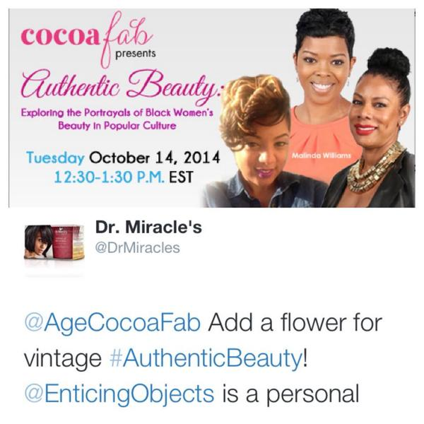 #Beauty News: Congrads to @EnticingObjects #ThaisFlowers for being mentioned by @DrMiracles during #AuthenticBeauty http://t.co/1sIJS62CBj