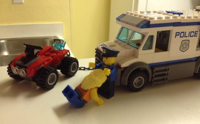 This is how ya get out of a Lego speeding ticket! http://t.co/Xe2YKQY4aQ