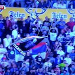 Serb vs Albanian Albanian flag flying on Serbia #Albania http://t.co/yzYfDP4tuT