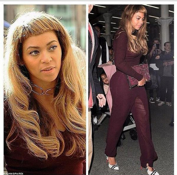 First problem... Beyonce bangs. Second... blue ivy