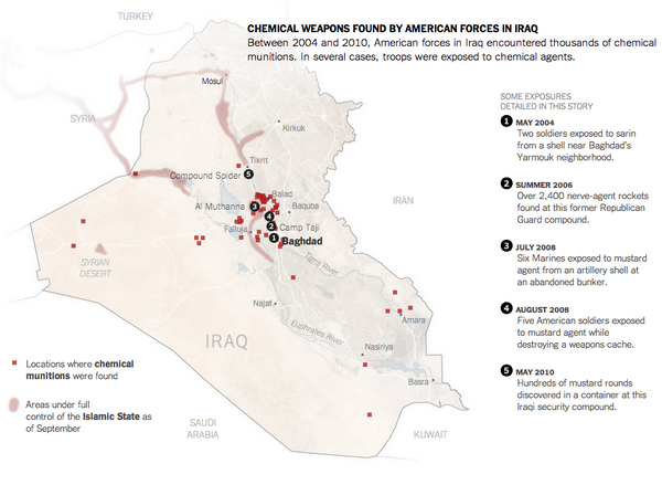 During the Iraq War, U.S. troops found thousands of chemical weapons. The war's untold story: http://t.co/ksfkwjsySC http://t.co/jy49WTAygF