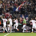 RT @BBCSport: Serbia v Albania match abandoned after a drone carrying a political message sparks clashes http://t.co/YqPyFio4yq http://t.co/eY6VlC8211