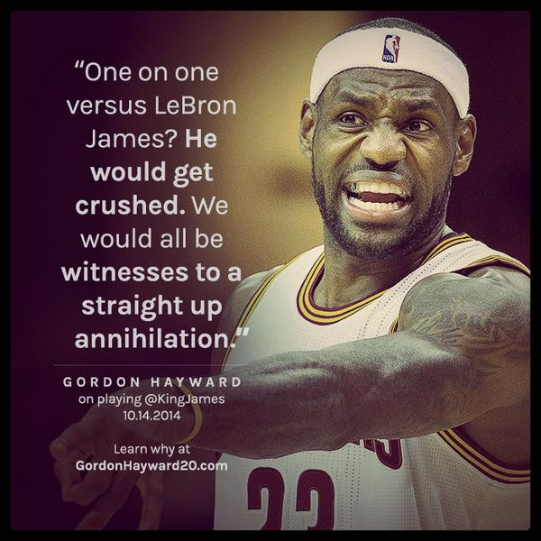If I played @KingJames 1-on-1, I'd crush him. My new blog on why I'm the best in the game: http://t.co/JstMVmubBl http://t.co/svA2tay0Cj