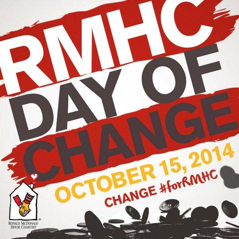 Are you ready for RMHC #DayofChange tmrw?! Donate ur small change to make a BIG difference #forRMHC families. http://t.co/YopWKkcVPQ