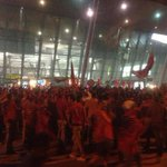 RT @psy_net: Fans outside Tirana airport waiting for the national team to land from Belgrade. http://t.co/7IapeKqfm7