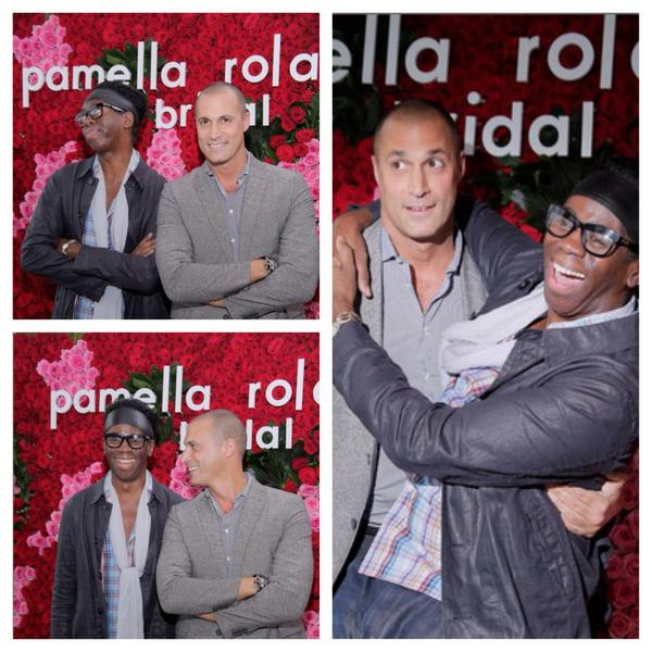 Fashion can be fun too, @NigelBarker and @MissJAlexander had a blast at yesterday's #pamellarolandbridal launch http://t.co/V1pqlfmli6
