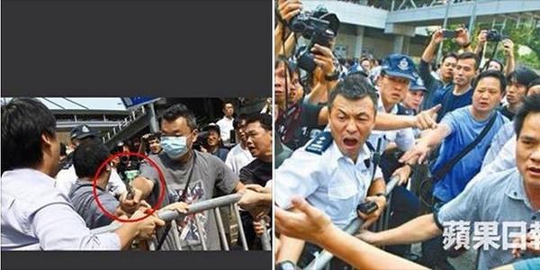 """@sun_koubun: ナイフを振る「怒る市民」は警察官 http://t.co/UUz2JPupFU"" 自作自演はシナの常套手段"