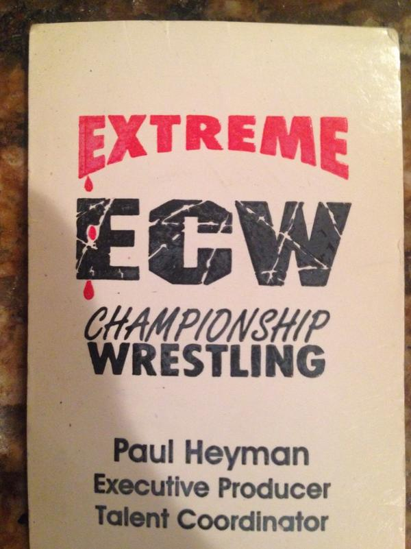 Original #ECW @HeymanHustle business card with instructions on back for merch to give me an XL Steiners shirt... http://t.co/OUxqHFxBNd