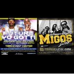 2 biggest parties #GHOE SAT Oct 25th future & YoGotti @ triad event center & Migos @ lotus lounge info 7045822452 http://t.co/H54sUfQcVh