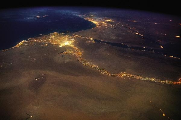 Amazing view from space of Cairo Alex Sahel Nile Sharm Jerusalem Cyprus . . http://t.co/B71Rykg8tm