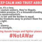 Keep Calm And Trust Abbott. #auspol #NotAWar http://t.co/2Q5ydsDaEW