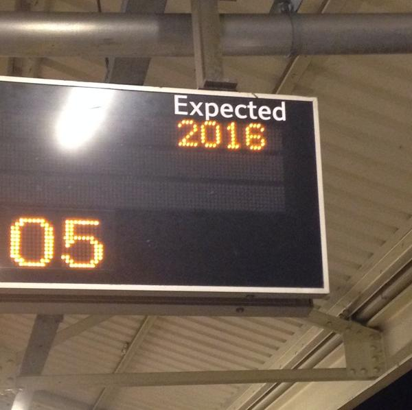 Bloody British rail. My train doesn't arrive for another two years. http://t.co/9kLq0A02js